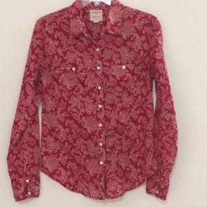 Levi Strauss Red Bandana Print Shirt Size M